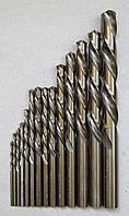 Сверло ц/х ф  0.5 мм Р6М5 утолщенный хвостовик ф.1.2мм левое