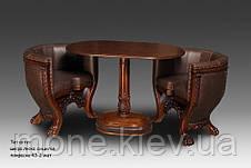 "Кресло классическое с резьбой ""Тет-а-тет"" в ткани, фото 3"