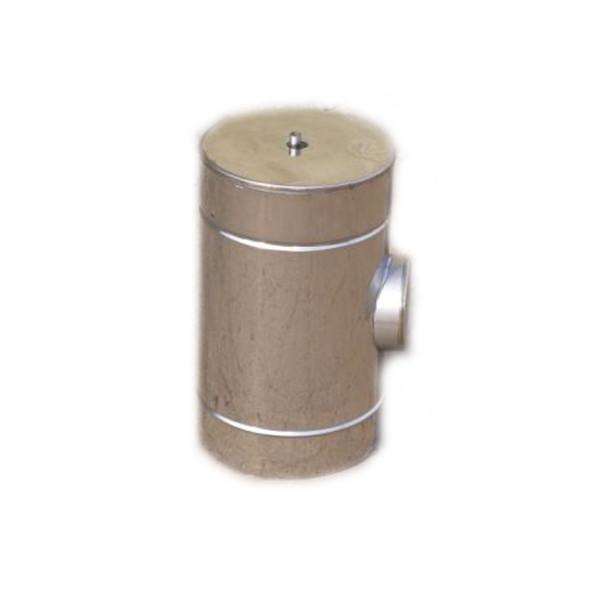 Ревизия двустенная из нержавеющей стали (1.0 мм.) в оцинкованном кожухе