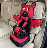 Детское Бескаркасное Автокресло в форме Медвежонка (Цвет Оранжевый), фото 2