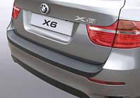 Накладка на задний бампер BMW X6 (E71) 2008-2013, ABS-пластик