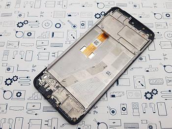 Дисплей Realme C2 модуль черный Сервисный оригинал с разборки