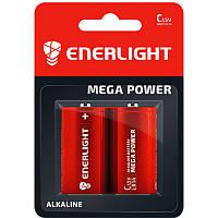 Батарейка щелочная Enerlight Mega Power LR14 C (блистер)