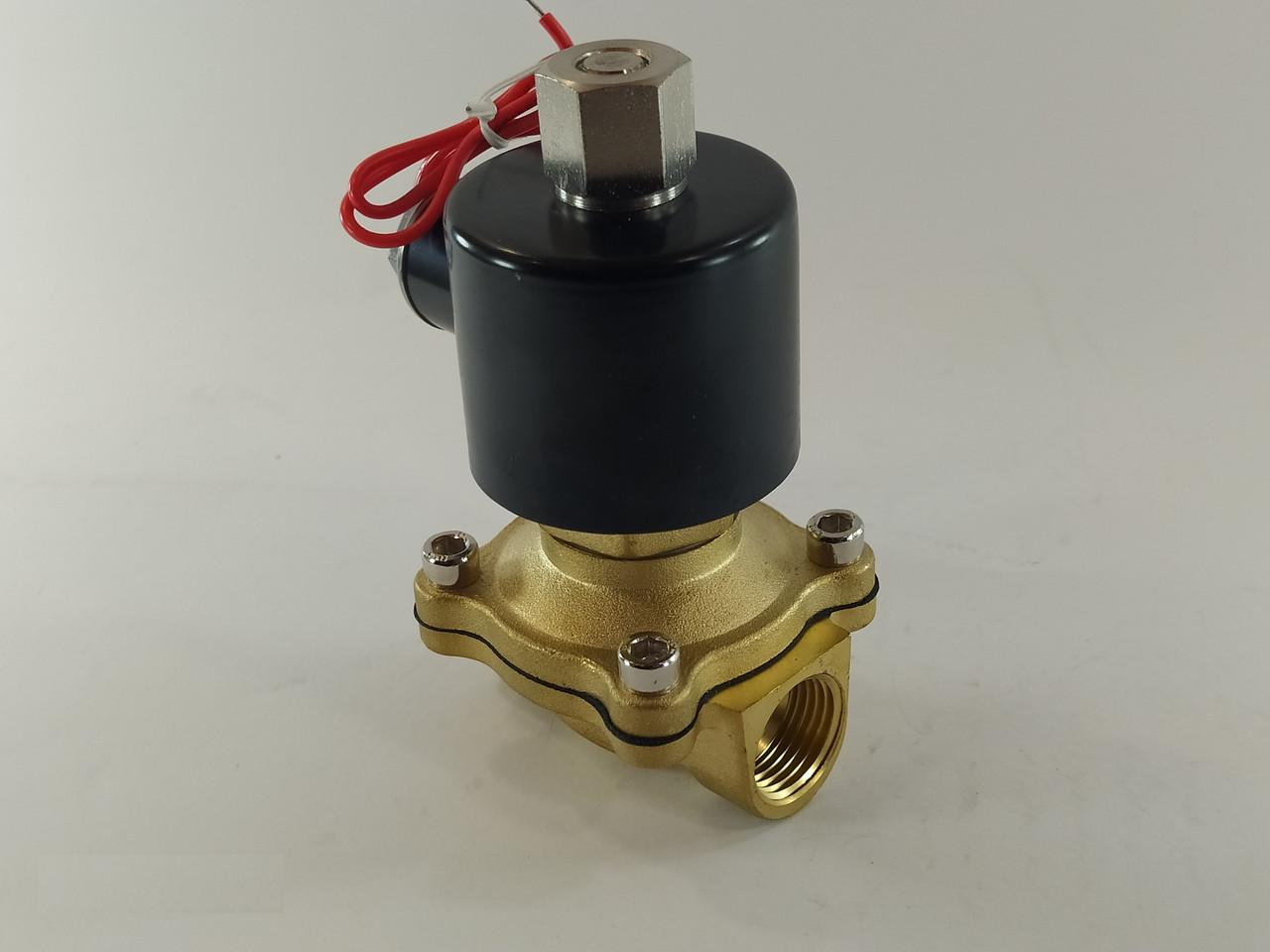 """Электромагнитный клапан 1/2"""" 220В нормально-открытый"""