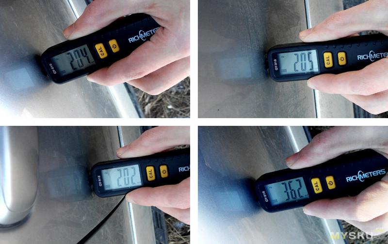 Толщиномер ( товщіномір ) Richmeters gy910 (комплект с батарейками)