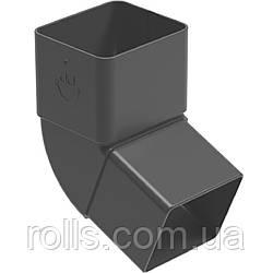 Колено 67° Galeko PVC² 135/70×80 коліно 67° труби водостічної SQ080-_-KO067-G