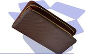 Мужской клатч Deya Bier (черный, коричневый)