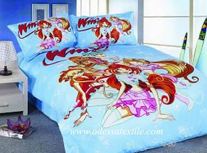 Полуторное постельное белье  TD ELWAY 182 сатин