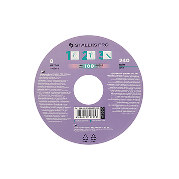 Сменный файл-лента Пончик STALEKS Bobbi nail 240 грит (8 м)