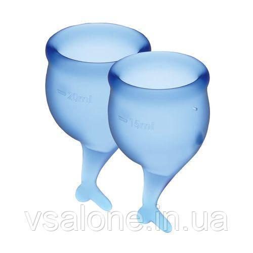 Набір менструальних чаш Satisfyer Feel Secure, 15мл і 20мл, мішечок для зберігання