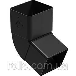 Колено 67° Galeko PVC² 135/70×80 коліно 67° труби водостічної SQ080-_-KO067-G Черный