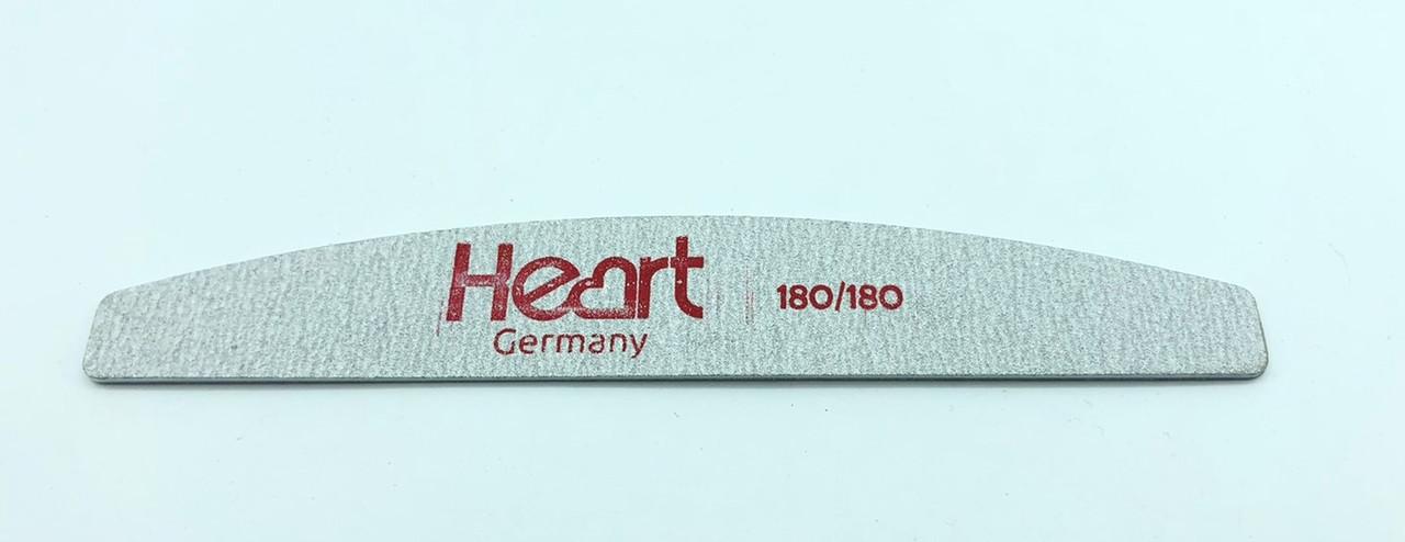 Пилка тонкая халф (лодочка)Titan серая Heart 180/180