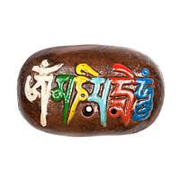 Подставка для благовоний Камень с мантрой Ом Мани Пеме Хунг 7,5х4,5х1,5 см Коричневый (23969)