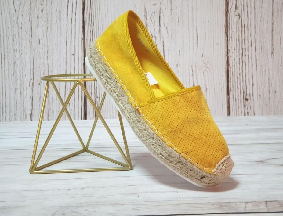 Желтые женские слипоны