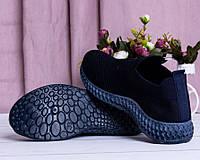 Летние женские кроссовки черные, фото 1