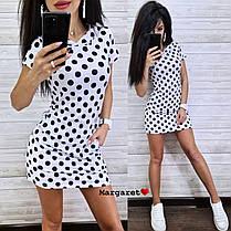 Платье короткое летнее с капюшоном и карманами, фото 2