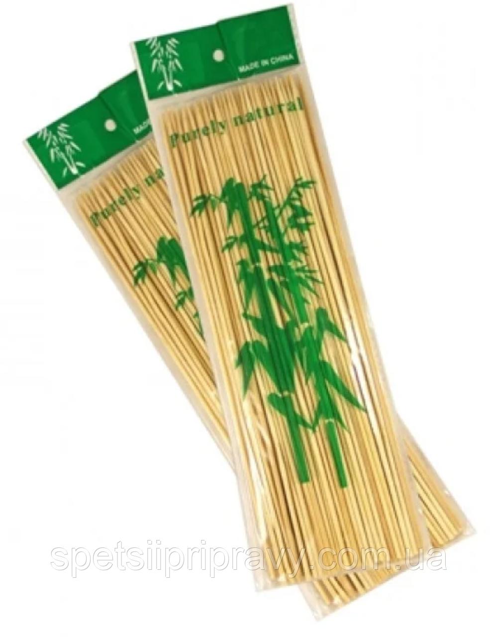 Шампура бамбуковые шпажки 25 см (100 шт/уп}