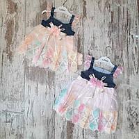 Дитячий сарафан для дівчинки з мереживом 9-12 міс, колір уточнюйте при замовленні