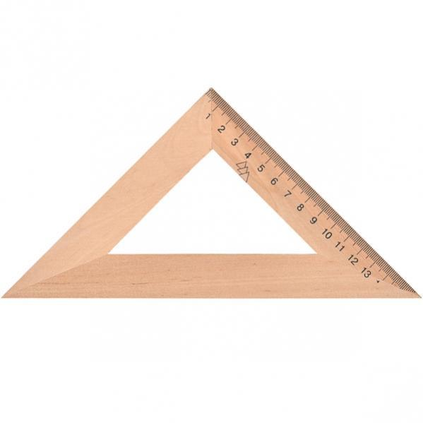 Треугольник деревянный 16см.
