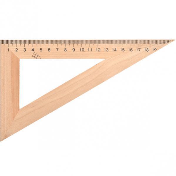 Треугольник деревянный 22см.