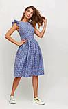 """Приталенное платье Karree """"Ибица"""" миди в клетку с воланами (красный,  р.S), фото 8"""