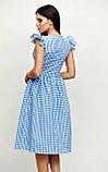 """Приталенное платье Karree """"Ибица"""" миди в клетку с воланами (красный,  р.S), фото 6"""