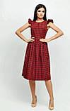 """Приталенное платье Karree """"Ибица"""" миди в клетку с воланами (красный,  р.S), фото 2"""