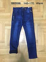 Джинсовые брюки на флисе для мальчиков оптом, Grace, 140-170 рр., арт. B82698