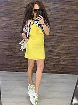 Летний комбинезон с юбкой на лямках с карманом котон, фото 2