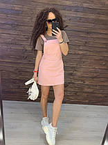 Летний комбинезон с юбкой на лямках с карманом котон, фото 3