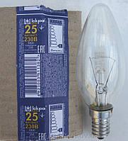 Лампа накаливания свечка E14 25Вт