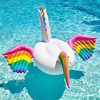 Большой надувной Единорог для плавания в бассейнах или водоемах, фото 1