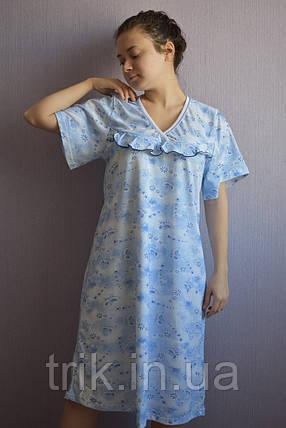 Ночная рубашка классика голубые бабочки, фото 2