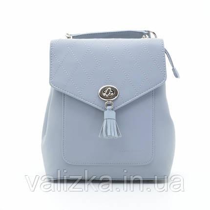Рюкзак David Jones женский светло-голубой 6209-2Т, фото 2