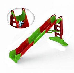 Гірка для катання МЕГА з водним ефектом 400см, червоно-зелена, 01450/3