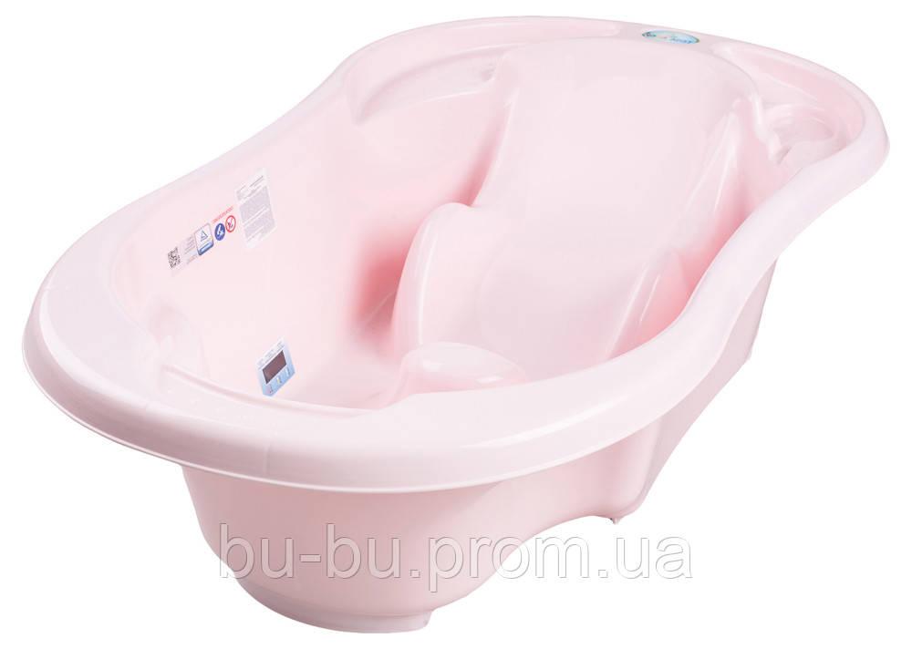 Ванночка анатомическая Tega TG-011 с термометром 104 light pink