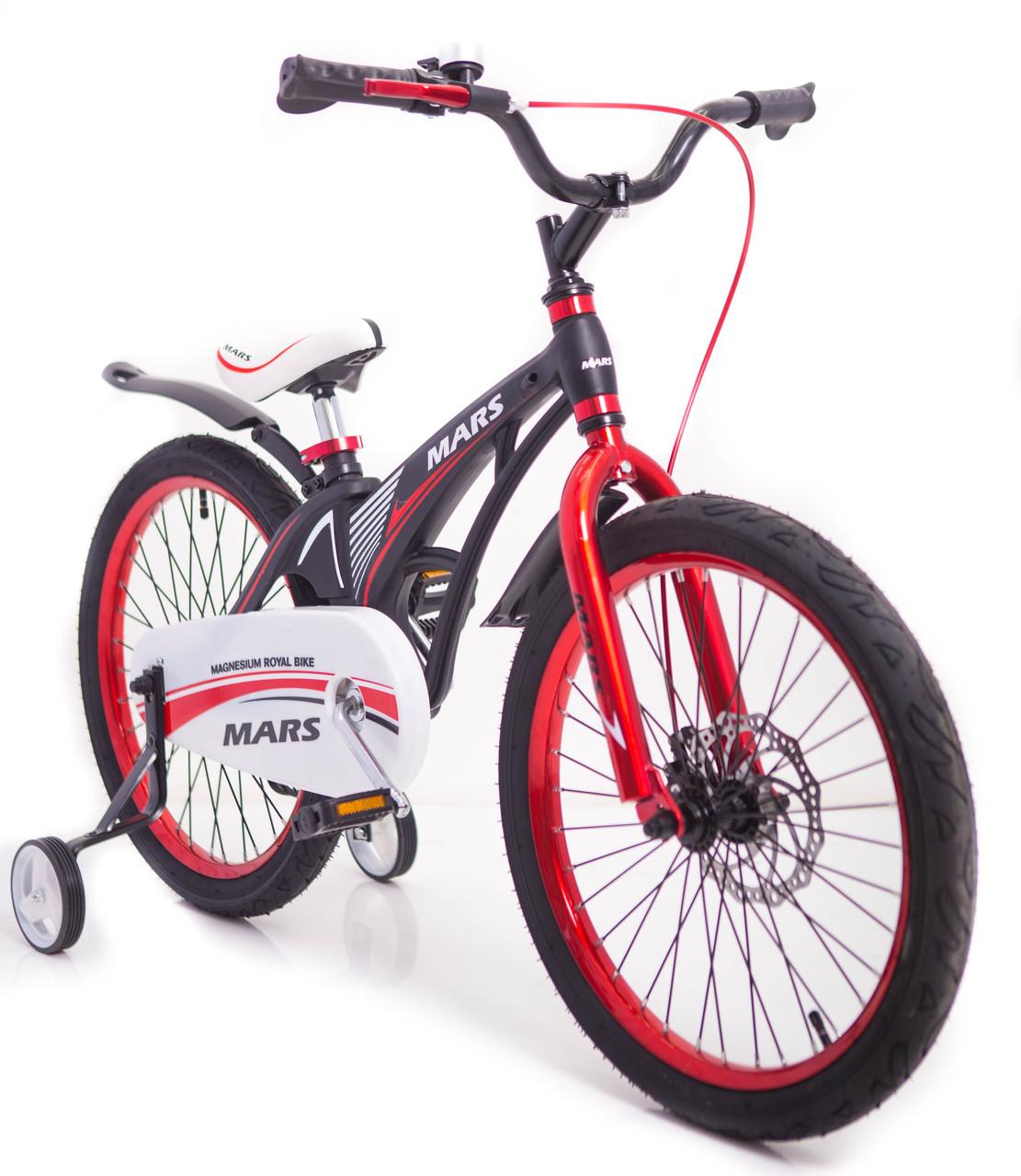 Детский легкий магниевый велосипед  MARS-20 дюймов Черный от 10 лет