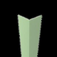 Уголок пластиковый декоративный 10*10*2700 мм Top-plast салатовый №15
