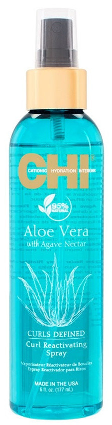 CHI Aloe Vera Curl Reactivating Spray - Спрей для волос с алоэ, 177 ml