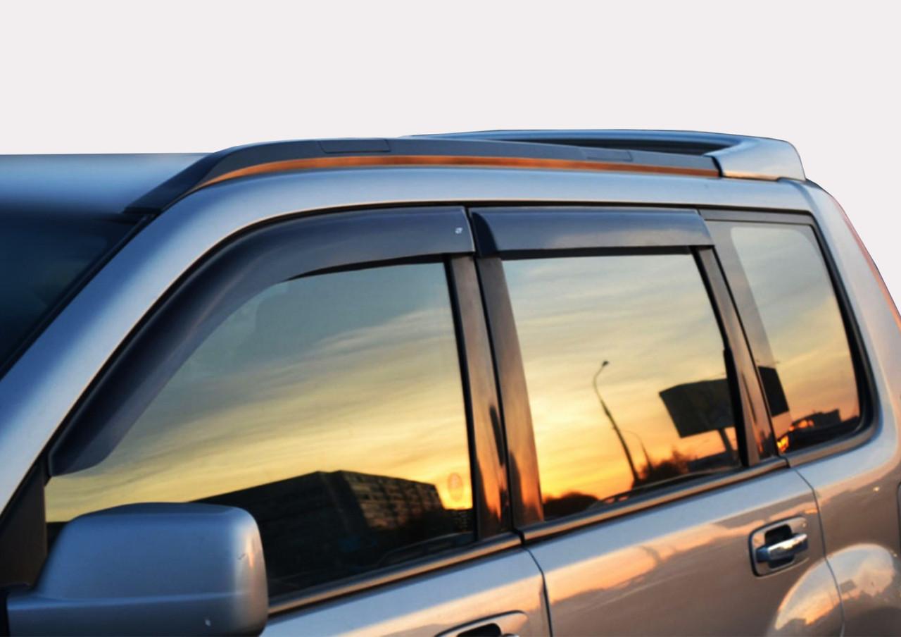 Дефлекторы окон (ветровики) Kia Rio 2 (5-двер.) (hatchback)(2005-2011), Cobra Tuning