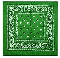 Банданы, баффы FAMO Бандана классика зеленая (А650) 55*55 (А650*)