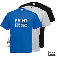 Печать на футболке мужской Стандарт (принт размером А4)