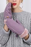 Перчатки FAMO Женские варежки Велена лиловые One size (G-1204)