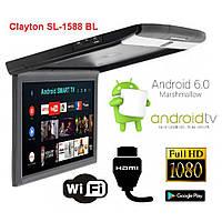 Монитор потолочный Clayton SL-1588 BL Android (черный), фото 1