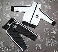 Детский спортивный костюм двойка в стиле Adidas на рост 74-128 см