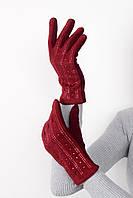 Перчатки FAMO Женские перчатки замшевые сенсорные Винс марсаловые One size (PER1804)