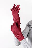 Перчатки FAMO Женские перчатки трикотажныесенсорные Мия красные One size (PER1809)