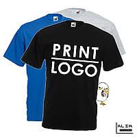 Печать на футболке мужской Стандарт (принт размером А3)