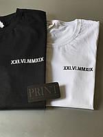 Парные футболки для влюбленных парня и девушки - с латинскими датами вашей годовщины