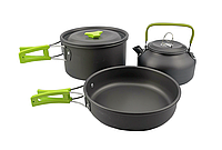 Набор туристической посуды HALIN Green (1-3 человека) DS-308